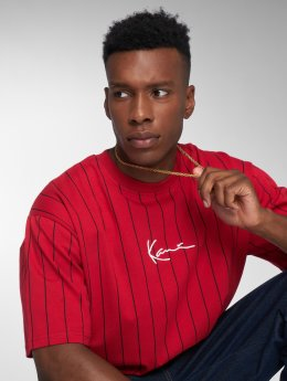 Karl Kani Camiseta Pin Stripe rojo