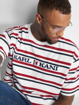 Karl Kani T-Shirt Stripes blanc