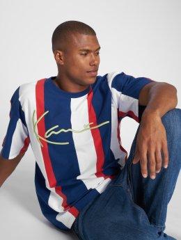 Karl Kani T-Shirt College Stripes bleu