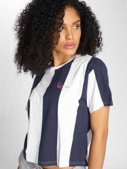 Karl Kani T-shirts Retro Stripe blå