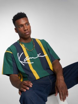 Karl Kani T-shirts College Stripes grøn