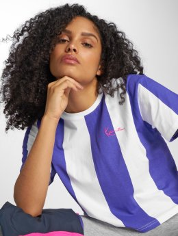 Karl Kani T-shirts Retro Stripe lilla
