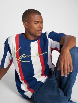 Karl Kani T-Shirty College Stripes niebieski