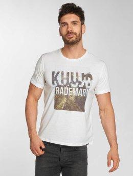 Khujo T-Shirt Thyrone  blanc