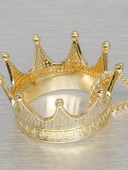 KING ICE Collana EMPIRE FOX Gold_Plated CZ Large Lucious Lyon's Crown oro