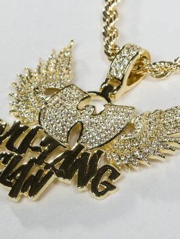 KING ICE Collana WU-TANG CLAN Gold_Plated CZ The Protect Ya oro