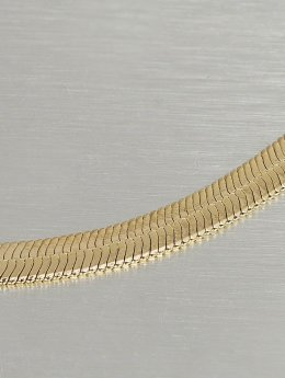 KING ICE Collier Gold_Plated 5mm Thin Herringbone Chain or