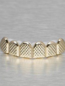 KING ICE Grillz Quilted Pattern Flat Top gold