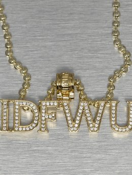 KING ICE ketting IDFWU goud