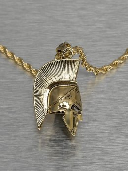KING ICE Necklace Gladiator Helmet gold