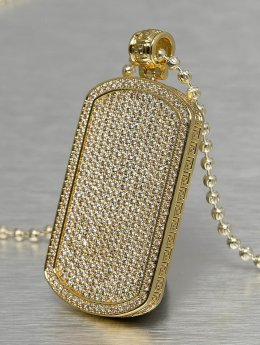 KING ICE Necklace Jungl Julz Dog Tag gold