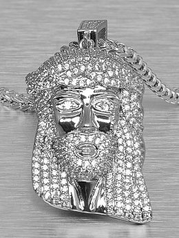 KING ICE Necklace Jesus Tear silver colored