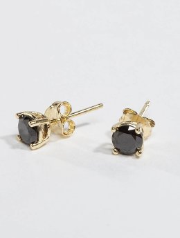 KING ICE Pendiente Gold_Plated 4mm 925 Sterling_Silver CZ oro