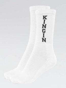 Kingin Skarpetki Logo bialy