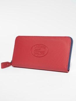 Lacoste Portfele Classic L Zip czerwony