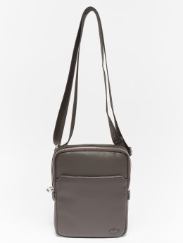 Lacoste Sac Leather Crossover brun