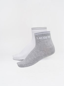 Lacoste Socks rippe silver colored