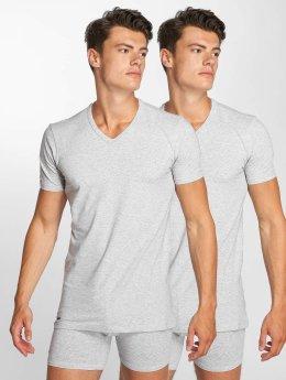 Lacoste T-shirt 2-Pack V/N grigio