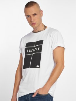 Lacoste T-Shirty Tennis bialy