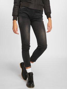 Le Temps Des Cerises Skinny jeans Powerhig zwart