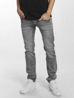 Le Temps Des Cerises Straight Fit Jeans 700/11 Basic šedá