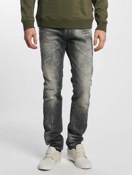 Le Temps Des Cerises Straight Fit Jeans 711 Kay grå