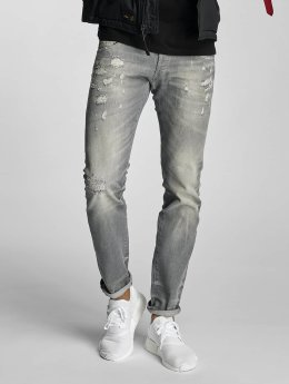 Le Temps Des Cerises Straight Fit Jeans 711 Mark grau