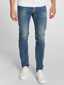Le Temps Des Cerises Straight Fit Jeans 700/11 Loops modrý