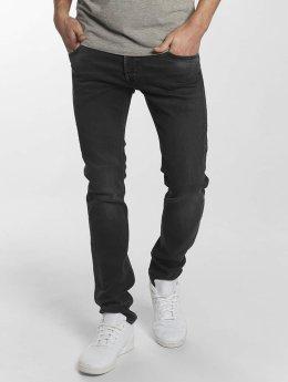 Le Temps Des Cerises Straight fit jeans 700/11 Basic zwart