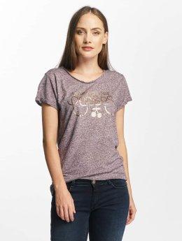 Le Temps Des Cerises T-paidat Basitrame purpuranpunainen