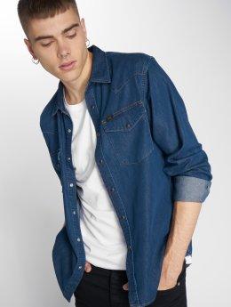 Lee overhemd Western blauw