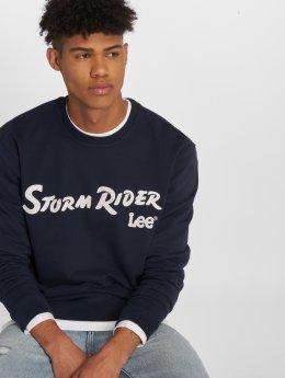 Lee Pullover Storm Rider blau