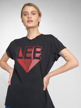 Lee T-paidat Logo musta