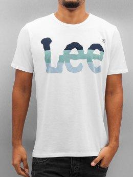 Lee T-Shirt Seasonal Logo blanc