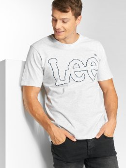 Lee T-Shirt Big Logo grau