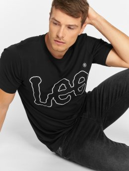 Lee T-Shirt Big Logo noir