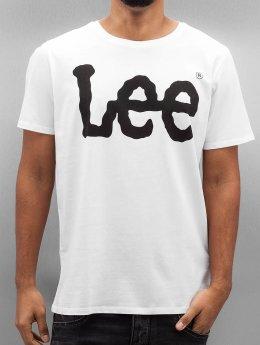 Lee T-Shirt Logo weiß