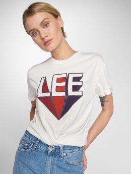 Lee t-shirt Retro Logo wit