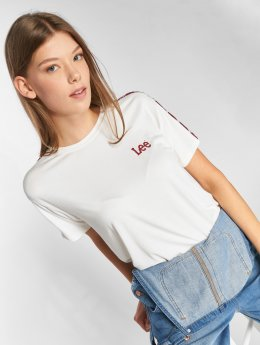Lee T-Shirty Sports Logo bialy