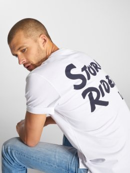 Lee T-Shirty Storm Rider bialy