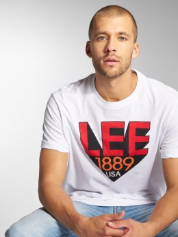 Lee T-Shirty Retro bialy
