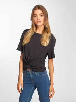 Lee T-Shirty Knotted czarny