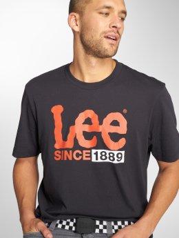 Lee T-Shirty 1889 Logo czarny