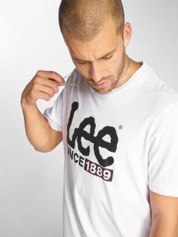 Lee T-skjorter 1889 Logo hvit