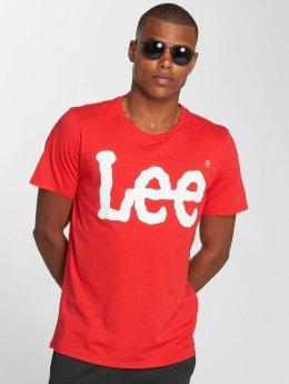 Lee T-skjorter Logo red