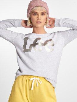 Lee trui Logo  grijs