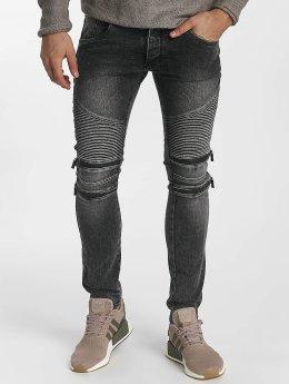 Leg Kings Облегающие джинсы Zipper серый