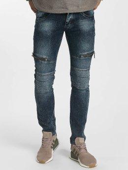 Leg Kings Облегающие джинсы Zipper синий