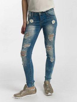 Leg Kings Облегающие джинсы Flower синий