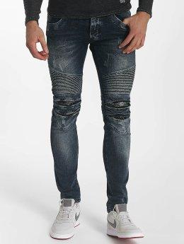 Leg Kings Облегающие джинсы Ribbed синий